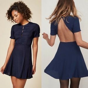 Navy Reformation open-back dress (10)